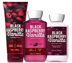 Bath & Body Works Black Raspberry Vanilla Trinity Gift Set  - $44.98