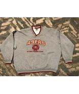 Vtg 90s Nutmeg Lee Sports SF 49ers Heather Gray Arch Logo Sweatshirt Sid... - $49.49