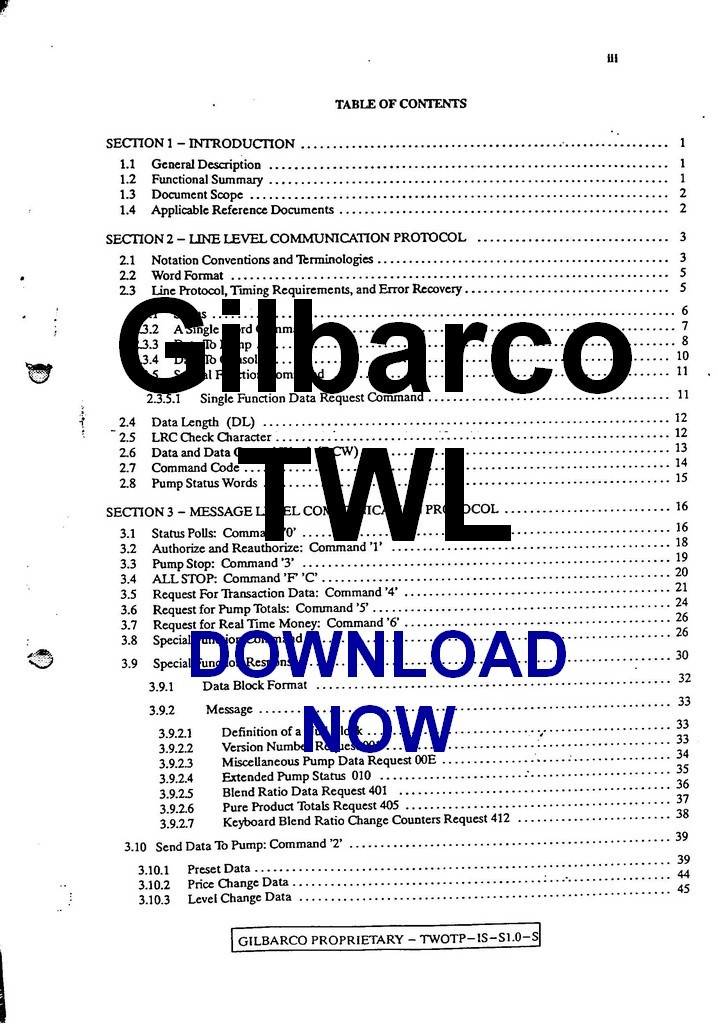 Download Gilbarco Two Wire Communication and 50 similar items