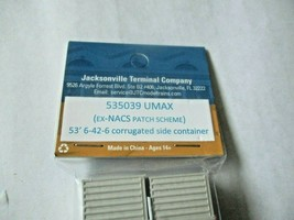 Jacksonville Terminal Company # 535039 UMAX EX- NCAS 53' Patch Container N-Scale image 2