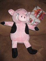 "Born To Ride Biker Beasts Pig W Leather New Plush Stuffed Animal 12"" Sugar Loaf - $7.99"