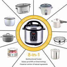 Multi Use Programmable Pressure Cooker Slow Electric Multicooker Food Pr... - $81.33