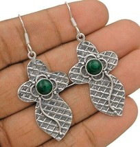 Natural Malachite 925 Solid Sterling Silver Earrings Jewelry, IC8-6 - $29.69
