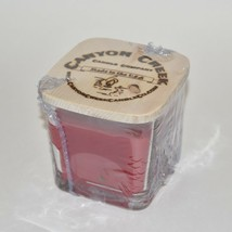 NEW Canyon Creek Candle Company 9oz Cube jar RED ROSES Handmade - $23.94