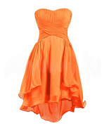 Vintage Orange Chiffon Short Cocktail Girls Dress For Wedding Pageant Pa... - $52.33