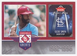 Ozzie Smith 2006 Fleer Greats of the Game Cardinals Greats Insert  SL Ca... - $1.99