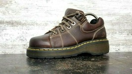 Womens Dr Doc Martens 9806 Oxford Shoes Sz 7 Brown Leather Used Made in England - $49.49