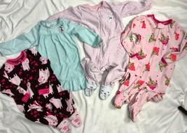 Carter's Fleece Sleepers Romper Pajamas One Piece Nightgown Girls 2T Pig... - $33.66