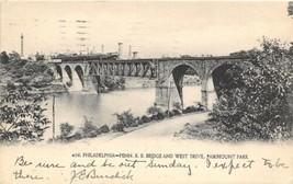 Pennsylvania Railroad Train Bridge Fairomount Park Philadelphia 1905 pos... - $6.93