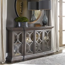 "NEW LARGE 64"" WOOD ACCENT CABINET CONSOLE 4 DOORS VINTAGE FINISH MODERN ... - $1,315.60"