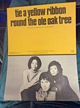 Dawn - Tie A Yellow Ribbon Round The Ole Oak Tree - SHEET MUSIC~Olando 1972 - $6.00