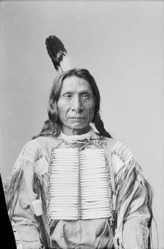 Men New Native American Buckskin Tan Buffalo Leather Bead Powwow War Shirt WS157