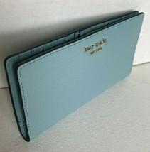 New Kate Spade New York Cameron Large Slim Bifold Leather wallet Seaside - $64.00