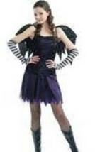 Teen Girls Purple Wicked Fairy Dress Wings Gloves 4 Pc Halloween Costume-size OS - $17.82