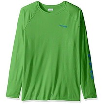 Columbia Men's PFG Terminal Tackle Long Sleeve Tee , Clean Green/Vivid B... - $46.99