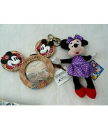 DISNEY Minnie Mickey MOUSE AULANI HAWAII PICTURE FRAME ORNAMENT+ Key Rin... - $29.69