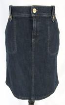 Izod Skirt size 6 Denim Jean Straight Stretch Knee Modest No Slit - $29.97