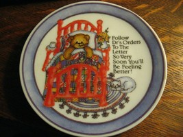 Lucy & Me Teddy Bear Plate - Vintage 1992 Enesco Lucy Rigg Collectible Bear Dish - $24.74