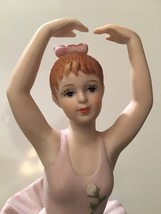 San Francisco Music Box Porcelain Bisque Girl Ballerina Dancer Figure He... - $34.64