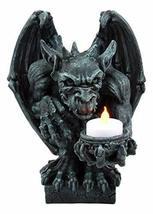 Ebros Squatting Gothic Gargoyle Candle Holder Castle Butler Guardian Servant Tea - $32.99