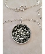 Sterling Silver 925 Pendant Necklace Aztec Indigenous Mexico Mesoamerica... - $30.50+