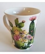 CACTUS COFFEE MUG Ceramic Porcelain China Succulents Gardening Flowers NEW - $14.99