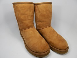 UGG Classic Short Sheepskin Chestnut Boots Size 8 M (B) EU 39 Brown Model # 5825