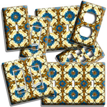 VICTORIAN MAJOLICA TILES LOOK LIGHT SWITCH OUTLET PLATES KITCHEN BATHROO... - $8.99+