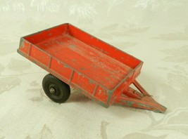 Vtg Diecast Hubley Kiddie Toy Old Red Utility Farm Trailer Wagon No. 5 - $19.79