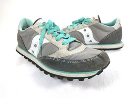 Saucony Womens Jazz Low Pro Grey/White Running Shoes Size 7.5 - $24.50