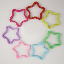 100pcs of 33mm Assorted Color Paint Star Shaped Split Key Ring Key Chains - $31.77