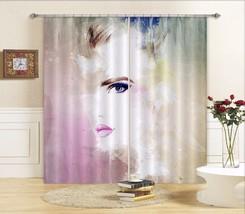 3D Hazy Woman 1 Blockout Photo Curtain Printing Curtains Drapes Fabric Window AU - $130.83+