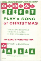 Music Book~Play A Song for Christmas~Band or Orchestra~ Ruth L. Zimmerma... - $13.81
