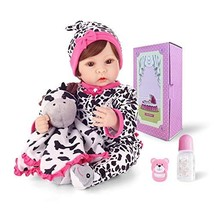 Reborn Baby Girl Doll Real Baby Wig Hair Soft Touch Weighted Glass Beads... - $44.50