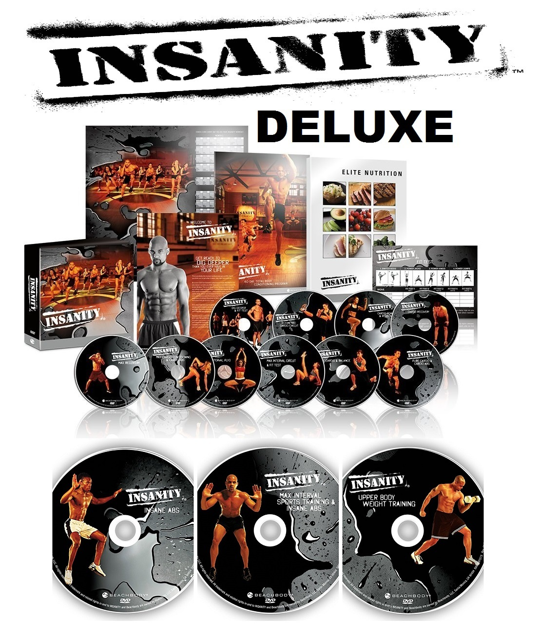Insanity Workout DVD Program by Shaun T (13 DVD) - Fitness ...