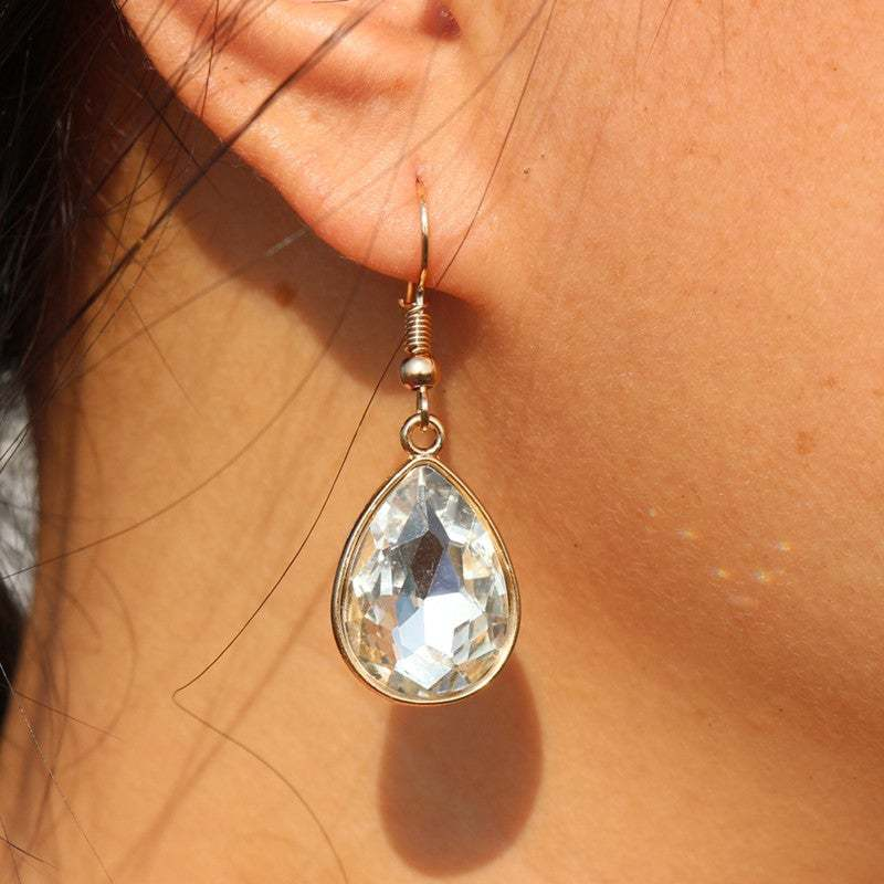 ES988 Drop Earrings For Women Crystal Waterdrop Dangle oorbellen Fashion Jewelry