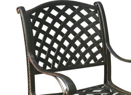 Patio dining chairs set of 6 Nassau cast aluminum patio furniture outdoor Bronze image 5