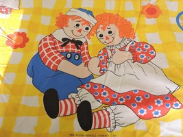 Vintage Raggedy Ann and Andy Twin Size Fitted Sheet The Bobbs Merrill Co... - $24.95