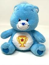 Care Bears Champ Bear Plush Blue w/ Trophy Award 2004 Nanco Stuffed Anim... - $11.99