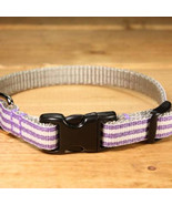 Mod Stripe Purple Grosgrain Adjustable Cat Collar / Made in Japan - $22.00