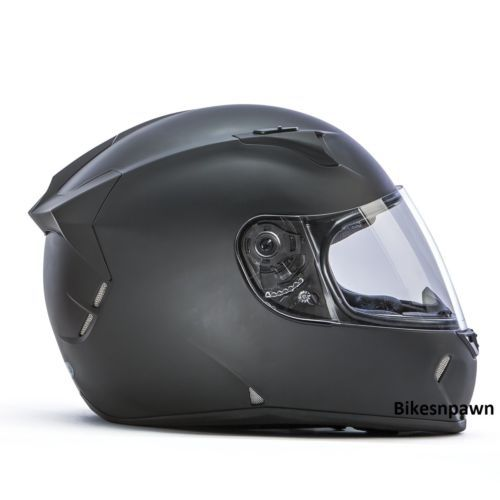 New M Fly Racing Revolt FS Motorcycle Helmet Solid Matte Black DOT & Snell