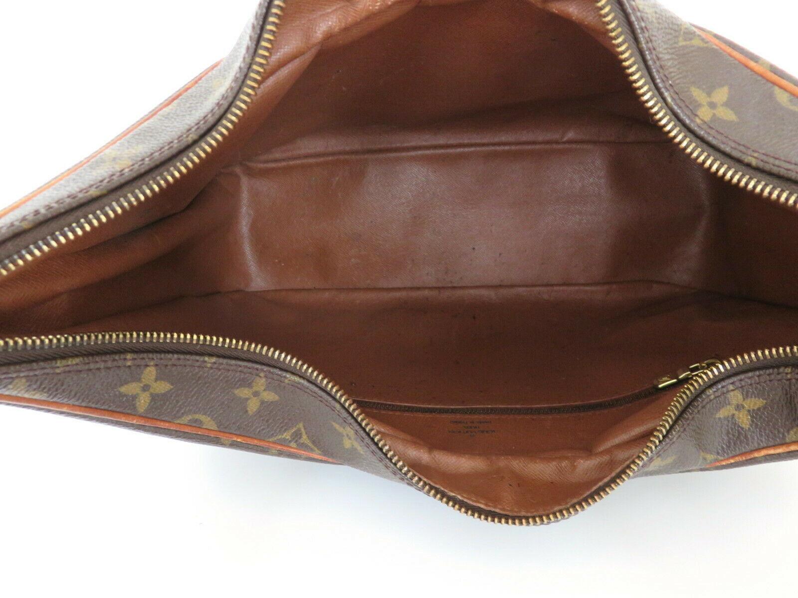 Authentic LOUIS VUITTON Monogram Canvas Leather Boulogne 35 Shoulder Bag image 8