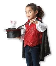 Melissa & Doug Magician Role Play Costume - Includes Hat, Cape, Wand, Magic Wand - $32.62