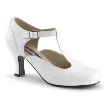 "FUNTASMA Flapper-26 Series 3"" Kitten Heel Pumps - White Pu - $45.95"