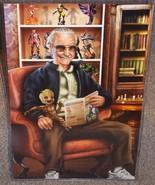 Stan Lee & Baby Groot Glossy Art Print 11 x 17 In Hard Plastic Sleeve - $24.99