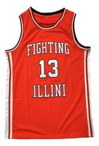 Kendall Gill Fighting Illinois College Basketball Jersey Sewn Orange Any Size image 1