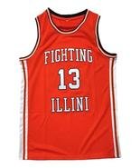 Kendall Gill Fighting Illinois College Basketball Jersey Sewn Orange Any... - $29.99+
