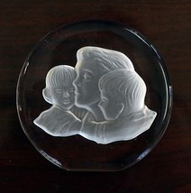 Vintage Danbury Mint Heavy Lead Crystal Mothers Day Paperweight 1979  - $9.89