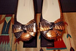 """Lisa For Donald Pliner """"LILAC"""" Embossed Leather Faux-Reptile Flat Sz. 6M... - $44.54"""