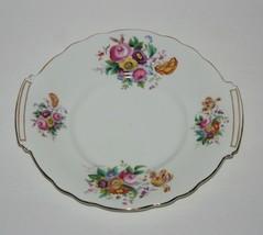 Coalport Junetime Cake Plate Sandwich Tray, Vintage 50's, Bone China, En... - $37.05